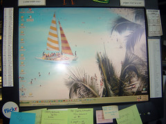 I'm at work....... (auntnanny) Tags: ocean desktop trip sea vacation leave beach sailboat work computer relax islands photo warm sailing getaway dream sunny monitor palmtree breeze daydream