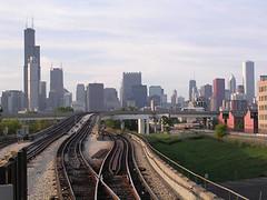 Chicago (digital_freak) Tags: 2005 railroad chicago skyline downtown rail digitalfreak