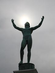 Allerton Park - Sun Singer Statue (supernova9) Tags: park sculpture sun statue canon illinois singer monticello s70 allerton allertonpark robertallerton robertallertonpark sunsinger monticelloil