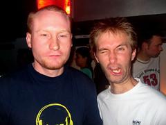 Munters at Fu Bar (Crittz) Tags: party goofy bar drunk drink gig drinking posing social auckland alcohol fu nightlife fools fubar facialexpression 2guys