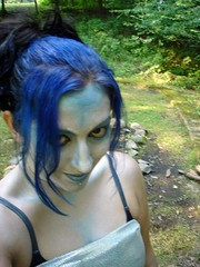 my alter-ego (danielle_blue) Tags: blue camp game girl monster glitter costume woods makeup sprite medieval fairy fantasy gamer armor dork faerie larp fae boffer liveactionroleplay
