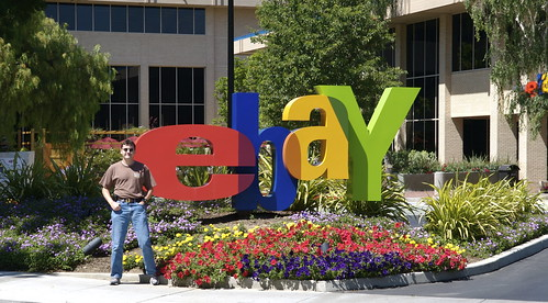 photo image of man standing in front of ebay sign in san jose