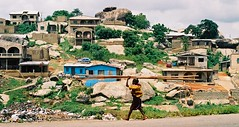 Under, and Over, the Rocks (Barefoot In Florida) Tags: africa road homes landscape rocks nigeria abeokuta kuto