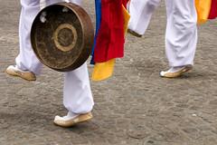 (joto25) Tags: street bw music holland colour netherlands amsterdam dance costume shoes europe legs dam traditional eu perform rhythm joto25 sr165 koreanpercussiongroup jotography jtloh