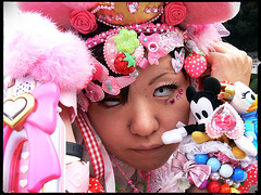 Pink (Danz in Tokyo) Tags: leica pink people color face japan japanese tokyo interestingness asia cosplay makeup harajuku contacts  nippon  dressed fz30 nozoom topv11 danz topv22