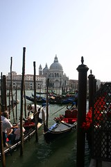 view across the water (ocean_lover) Tags: venice italy gondolas