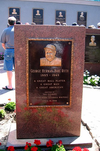 Yankee Stadium - Monument Park - Babe Ruth Monument | Flickr ...