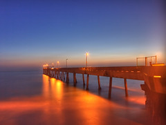 pacifica pier at sunset (HDR 3527-3529) (ehoyer) Tags: ocean california longexposure sunset 20d night canon pier fishing shore bayarea 1855mm top100 sheen pacifica hdr glassy canon1855 3xp top500 photomatix pacificapier explored sfchronicle96hrs