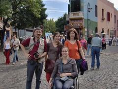 Cecile, Guri, Javiera et moi en la Boca (Claire tango) Tags: frangine
