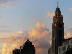 Civic Sunset (It'sGreg) Tags: sunset downtown columbusohio urbanscape whathaveidone lawdyasunsetphotograph