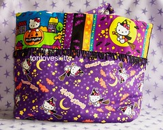 Hello Kitty Halloween Bag (toriloveskitty) Tags: hello halloween fruits bag pumpkin witch hellokitty kitty sanrio purse broomstick