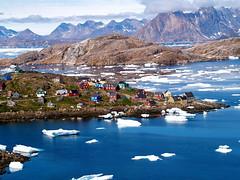 [フリー画像] [人工風景] [街の風景] [海岸の風景] [氷山の風景] [グリーンランド風景]      [フリー素材]