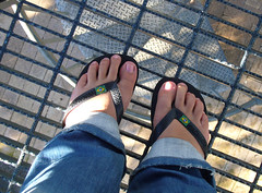 tower floor (AS500) Tags: park tower feet floor sydney lookout thongs olympic myfeet havaiana