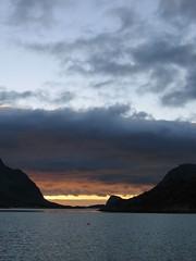 Burning sky (dominikf) Tags: norway geotagged norge lofoten midnightsun 200706 lyngvr