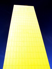 Deep Blue Yellow (Neil101) Tags: street uk blue england sky abstract color colour building tower yellow architecture portland geotagged manchester interesting neil most tall colourful wilkinson geotoolyuancc neilwilkinson neil101 geolat53477939 geolon2238561 bbcmanchesterblog