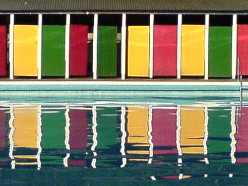 Tooting Bec Lido doors