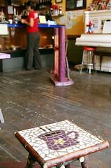 Spiral's Stool (viewership) Tags: film coffee canon spiral cafe bc floor victoria mug stool hardwood canona2e jamessykes