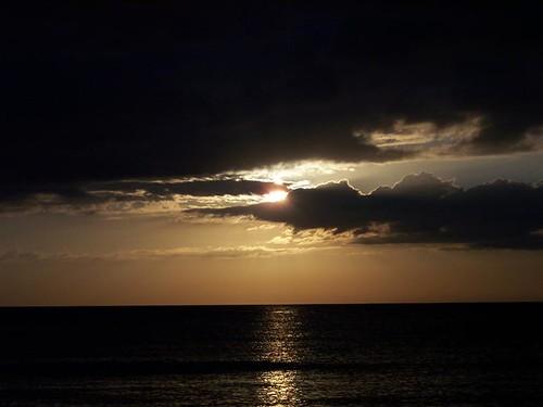 Atlantic Ocean sunrise, May 2006
