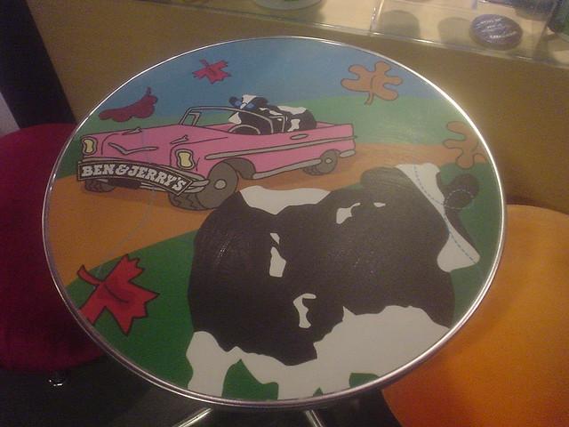 Ben & Jerrys table