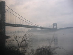 GWB in fog (noodleNYC) Tags: fog hudson gwb georgewashingtonbridge