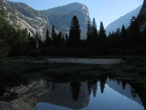 Mirror Lake Postcard Photo - Yosemite