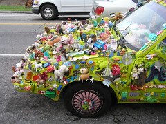 Hood junk (yankeepez) Tags: art car junk automobile mt dora fl artcar clutter