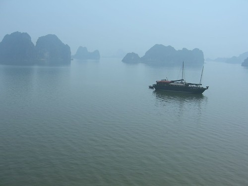 Early morning in the fog of Halong Bay by Pierre Lesage, on Flickr