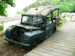 Hong Kong () - Lantau Island () - Landrover (Michael Hansen's Hikes) Tags: car island hongkong michael hiking rusty hong kong  landrover hansen wo discoverybay lantau muiwo mui   michaelhansen landroverseriesi hansenshikes