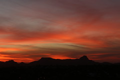 Sunset on Sombrero Peak (lars hammar) Tags: tucson arizona sunset mountain sky clouds