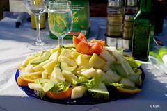 Lunch (Kym.) Tags: almuñécar andalucía andalusia day3 food fruits glass huge salad somebodyelseskitchen spain tropicalsalad veggie water