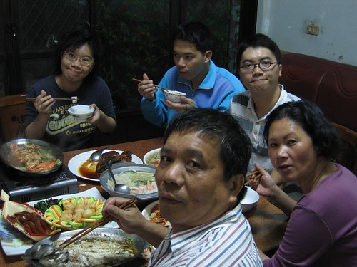 年夜飯的吃飯家人