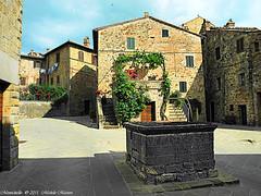 Montichiello Il Borgo The Ancient village (michele masiero) Tags: italia siena toscana valdorcia borgo montichiello fotosketcher