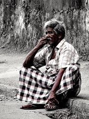 The Thought (kithnuwank) Tags: street old monochrome person thought random traditional thoughtful streetphotography srilanka dailylife kandy nikonphotography nikonphoto nikonp600 lifeonroad