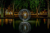 EMD #230 - Orb in the park of the Chateau (Electrical Movements in the Dark) Tags: longexposure lightpainting paintingwithlight lightart emd lapp lightartperformancephotography electricalmovementsinthedark
