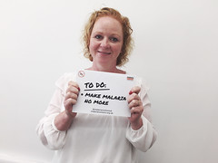 Judith joins campaign to make malaria no more within a generation