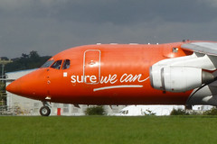 TNT, 146 at London Southend Airport. (piktaker) Tags: jet cargo tnt bae liege essex southend freight sen britishaerospace jetairliner egmc londonsouthendairport surewecan bae146200qt ecelt e2102
