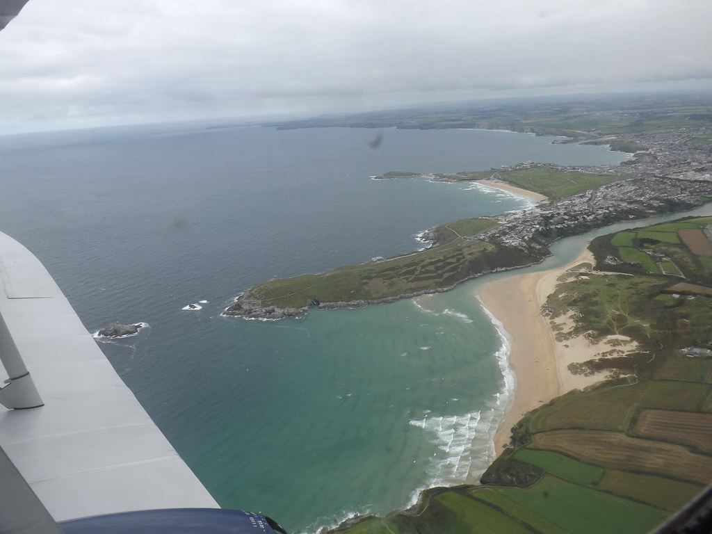 Fistral Beach, Newquay, from the air