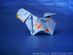 Simple Dog v.2 - Barth Dunkan (Magic Fingaz) Tags: dog chien origami perro diagram diagramme origamidiagram origamidog barthdunkan
