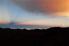 11Oct1806HST Haleakala Sunset Angel (mahteetagong) Tags: sunset mountain angel hawaii nikon maui tokina haleakala beams crepuscularrays 1224mmf4 d80 cloudshadowing