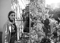 Monochrome mood. Ivi (Yulchonok) Tags: autumn portrait people bw girl monochrome canon blackwhite model diptych ukraine