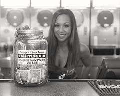 The Bartender (Tez.W) Tags: vegas blackandwhite bw beautiful beauty smile bar asian blackwhite hilarious model support funny pretty lasvegas lol gorgeous longhair streetphotography prettyeyes amateur bartender bigsmile fit prettygirls fattuesday hotgirl happysmile nozoom getlaid fixedlens greatsmile amateurmodel nikonblackandwhite localphotography nikonportrait nikkor35mm18 primedlens nikond5200 dxnikkor35mm18g