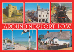 Newport, Isle of Wight old postcard 1980s (Spottedlaurel) Tags: newport isleofwight 1980s oldpostcard