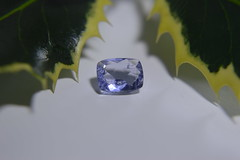 Hackmanite. (gem.mania) Tags: hackmanite gemstone gem cushion cut blue uv orange macro