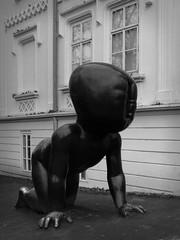 Prague CRAWLING BABIES (Nine LaMaitre) Tags: blackandwhite bw sculpture monochrome strange crazy artwork europe prague skulptur praha czechrepublic mad plastik miminka českárepublika crawlingbabies davidčerný