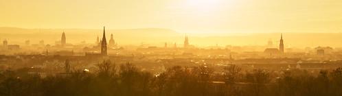 Abendsonne über Dresden
