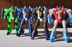 Hasbro Legends Class Seekers (EZ Balance Photography) Tags: decepticons transformers g1 seekers starscream skywarp thundercracker squadron f16 collection acidstorm