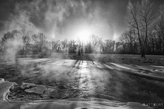 IMGP0580-Edit (Matt_Burt) Tags: bw cold fog halo ice mist river steam sundog sunrise whitewaterpark