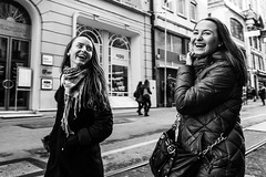 """There is nothing in the world so irresistibly contagious as laughter and good humor.""  Charles Dickens (Mustafa Selcuk) Tags: moods moody turkey istanbul xpro2 fujifilm fujifilmtr monochromatic monochrome bw bnw blackandwhite streetphotography streetphotographer streetshooter street happiness happy smile laugh laughter"