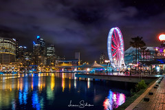 Sydney Darling Harbour (Night) (leonsidik.com) Tags: leon sidik sydney darling harbour bay sea tourist australia visit nsw newsouthwales landscape longexposure 2016 long exposure fujifilm