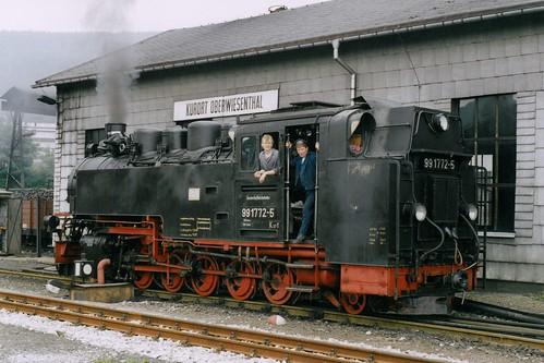 DR: 99 1772-5 am Lokschuppen in Kurort Oberwiesenthal